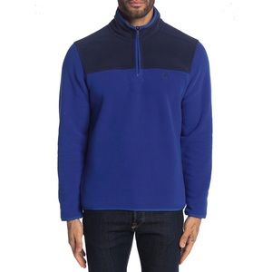 Brooks Bros Colorblock 1/4 Zip Fleece Pullover L